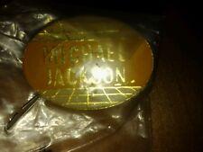 VINTAGE Michael Jackson Name Rock METAL TAC LAPEL PIN 80'S New in Original bag!
