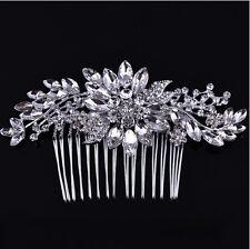 Handmade Crystal Wedding Hair Accessories, Wedding Hair piece, Hair comb clip