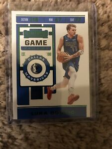 2019-2020-panini-contenders-basketball-Luka-Doncic-Green-Parallel