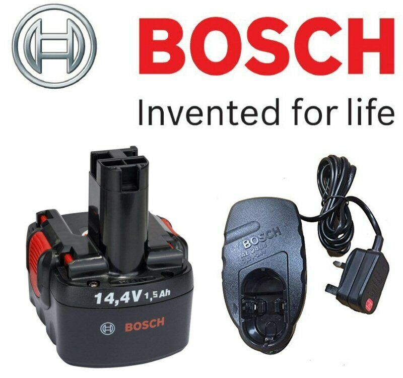 BOSCH 14.4V NiCd Pod Style Battery with Charger (To Fit  Bosch Products below)