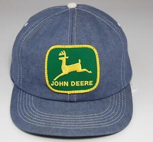 Vintage John Deere Hat Denim Snapback Cap - Green Patch Trucker - K ... 00f49f61510b