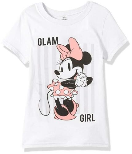 choose your size 7-16 Disney Girls/' Minnie Mouse White Cap Sleeve T-Shirt