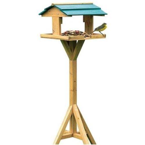 Vogelhaus Vogelfutterstation aus Holz mit Ständer 112 x 31 x 30 cm