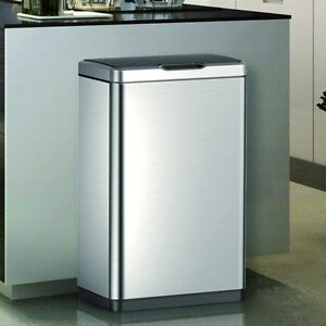 Image Is Loading Large Capacity 80 Litre Stainless Steel Kitchen Bin