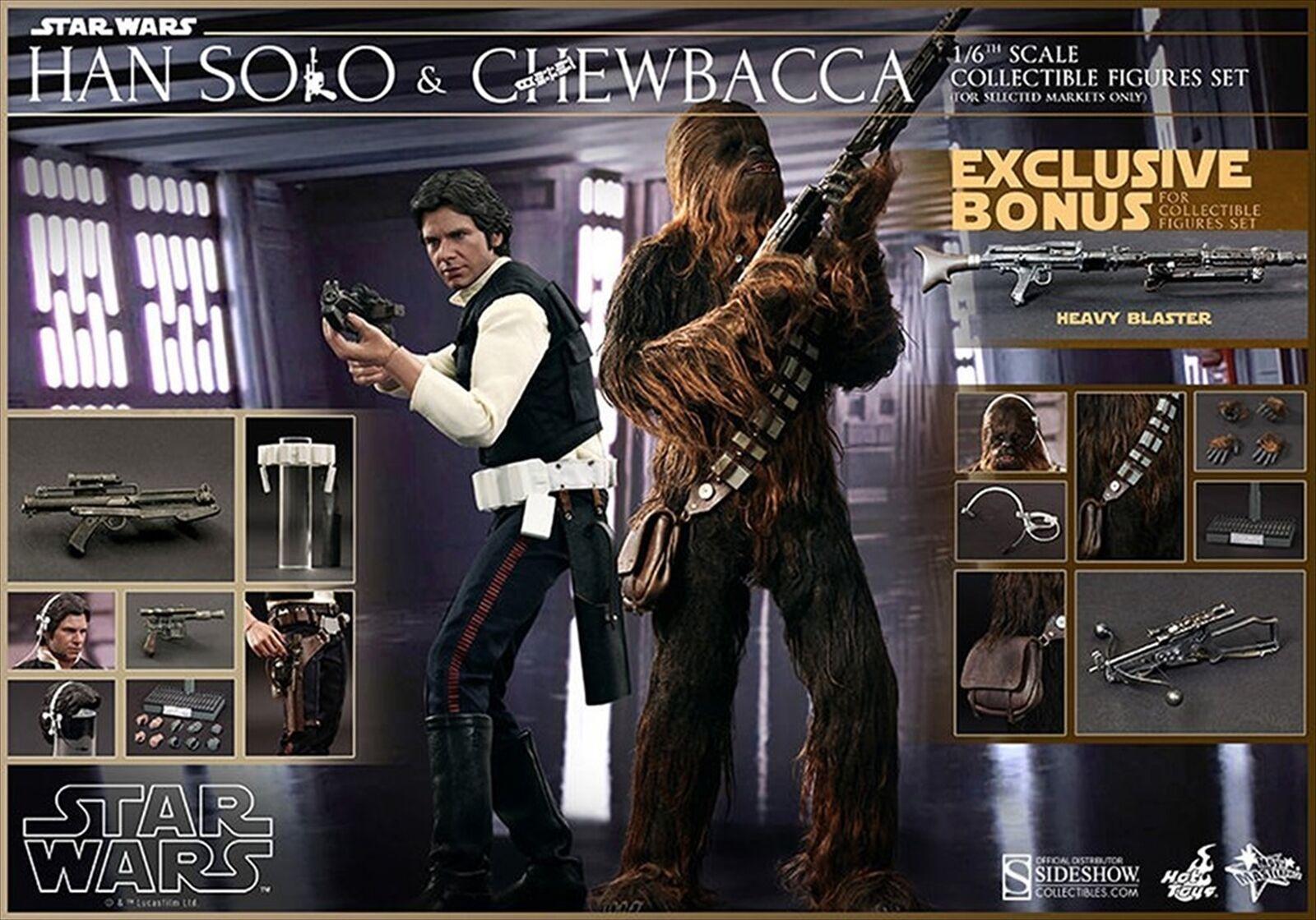 Caliente giocattoli estrella guerras Han Solo e Chewbacca  1 6 Scale cifra Set w  Bonus  a buon mercato