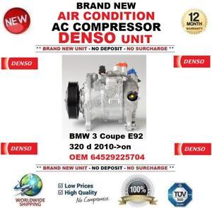 Denso-Aire-acondicionado-CA-COMPRESOR-BMW-3-Coupe-E92-320d-2010-gt-En-OEM
