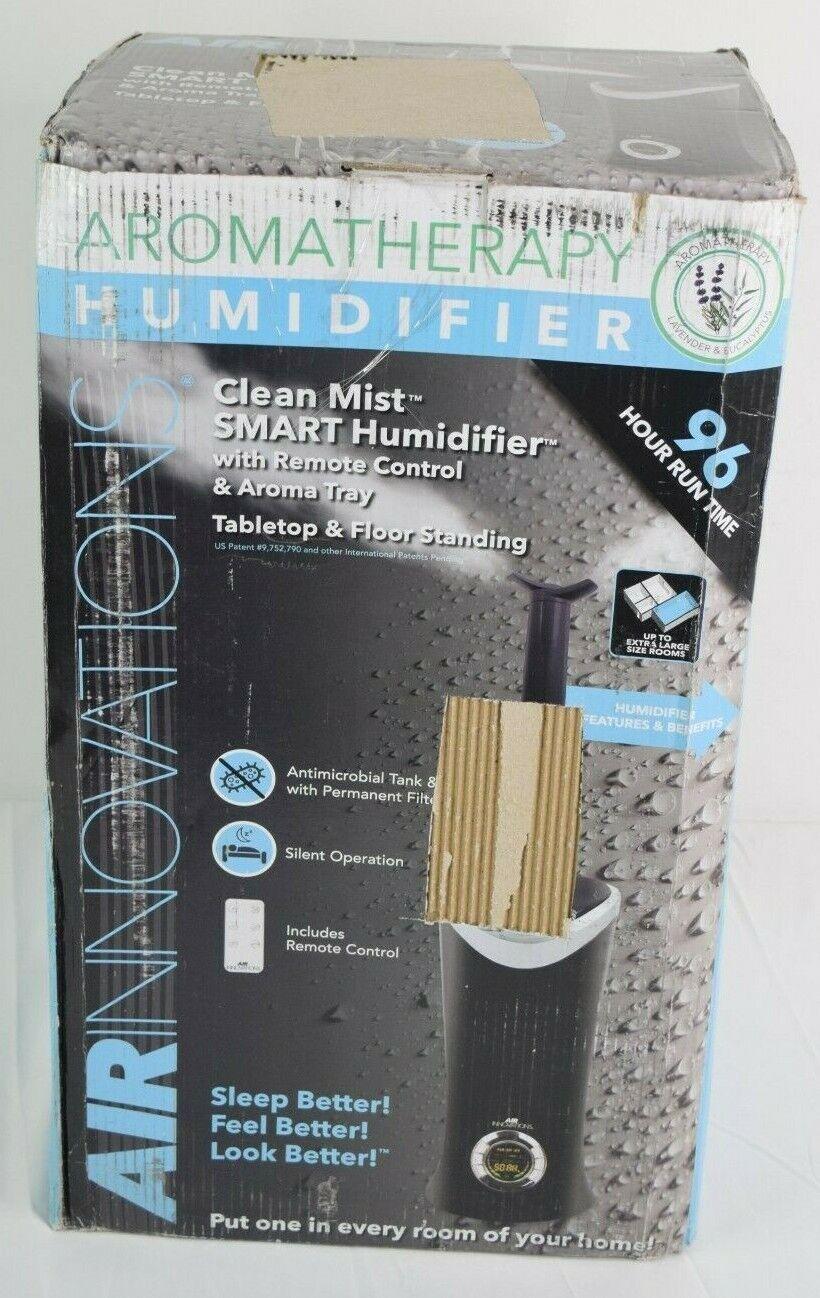 Air Innovations MH 701B Clean Mist Smart Ultrasonic Humidifier (Black) NOB