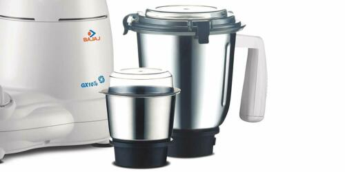 Bajaj GX 10 Deluxe 600-Watt 230V Mixer Grinder With 3 Stainless Steel Jar