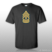 E-8 First Sergeant Insignia T-shirt Tee Shirt Free Sticker United States Army
