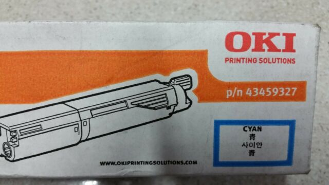 Genuine Oki Cyan Toner for use in Oki C3530MFP  Part no: 43459327   2.500 pages