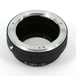 Contax-Yashica-CY-CO-Y-Lens-to-Fujifilm-X-Mount-X-Pro-1-X-E1-Camera-Adapter-Ring