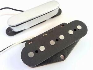 True-Custom-suono-vintage-Shop-Chrome-039-52-Tele-Pickup-Set-per-Fender-Telecaster
