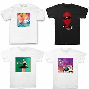 Kanye West Kid Cudi Kids see ghosts Project Hip Hop Rap White Tee T-shirt by AF