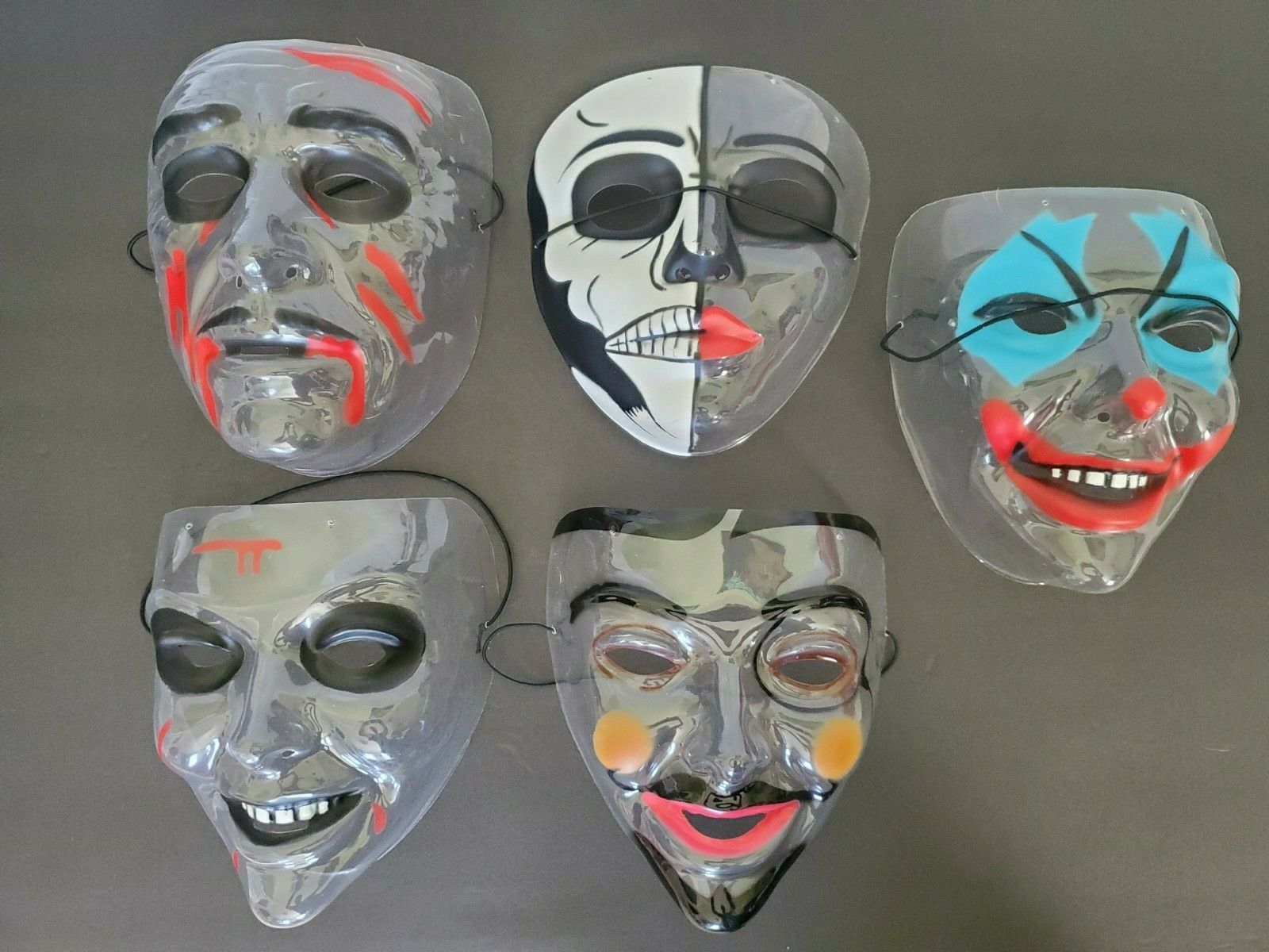 Mask For The Purge GOD Horror Smiling Fancy Dress Party Halloween Face Mask