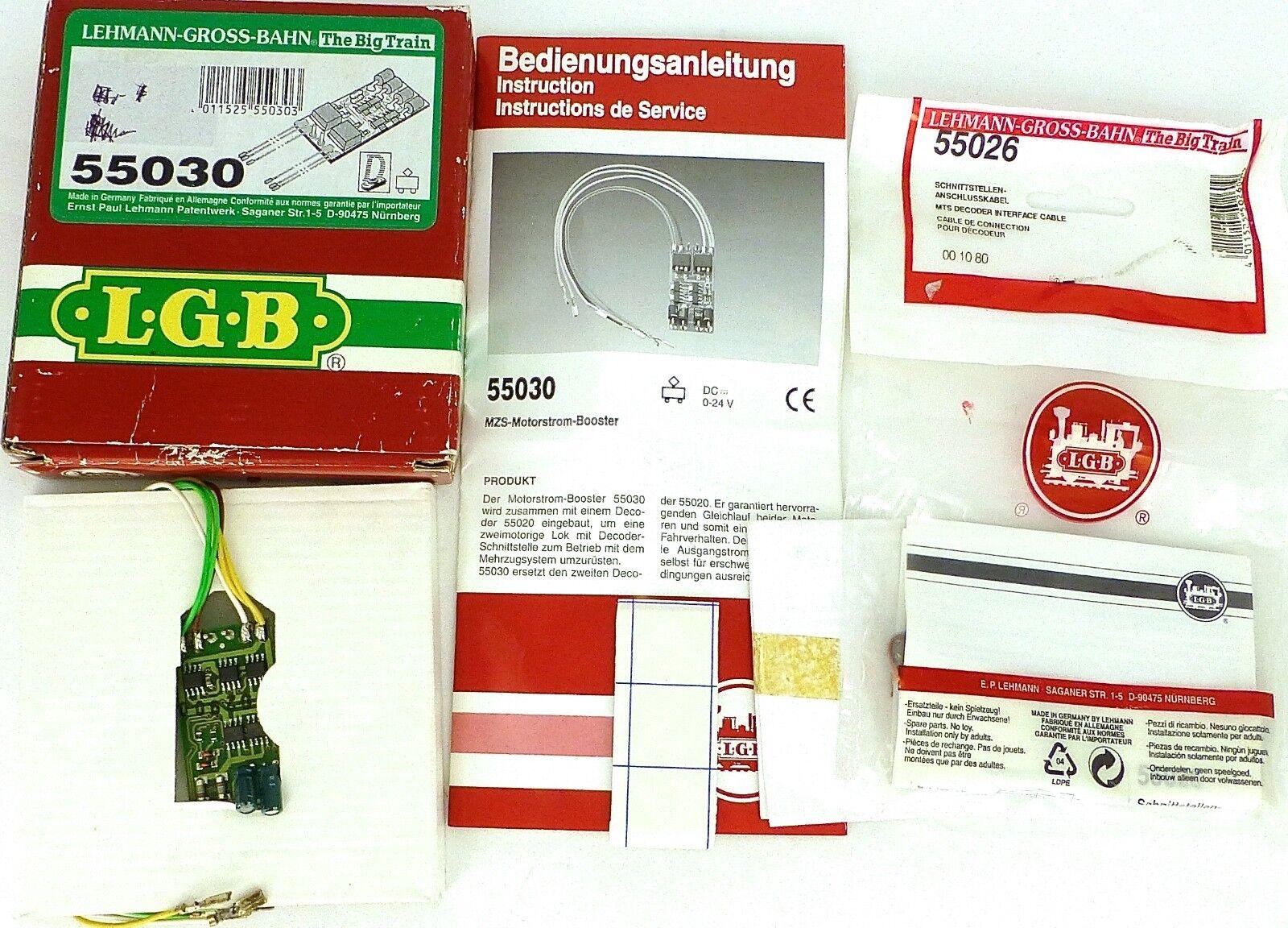 LGB 5030 mzb MOTORE elettricità BOOSTER Lehmann + 55026 Anschlußkabel OVP µ *