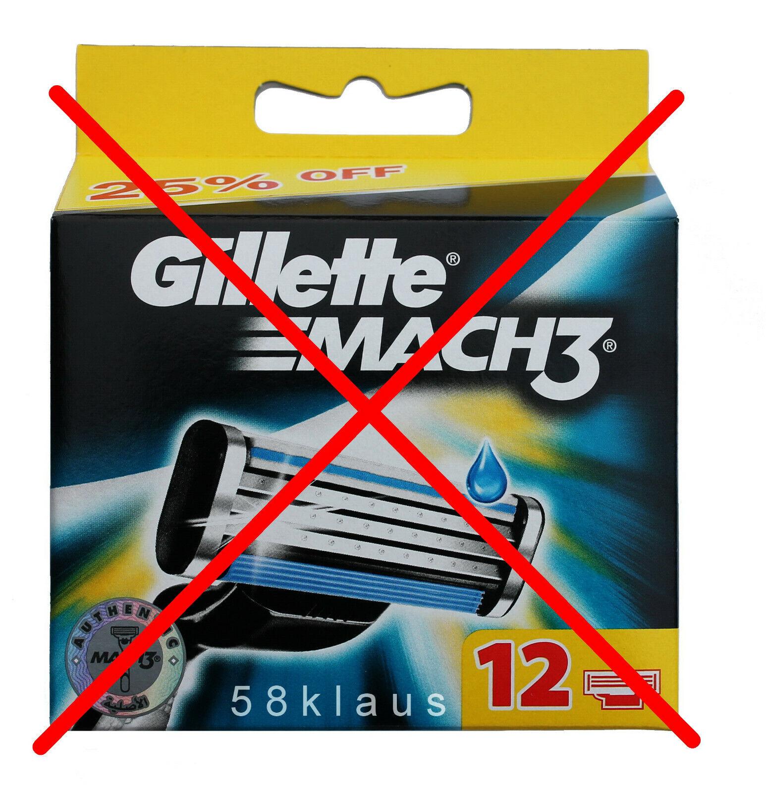 8 Gillette Mach 3 Rasierklingen 8er Mach3 Klingen im Blister Gilette NEU