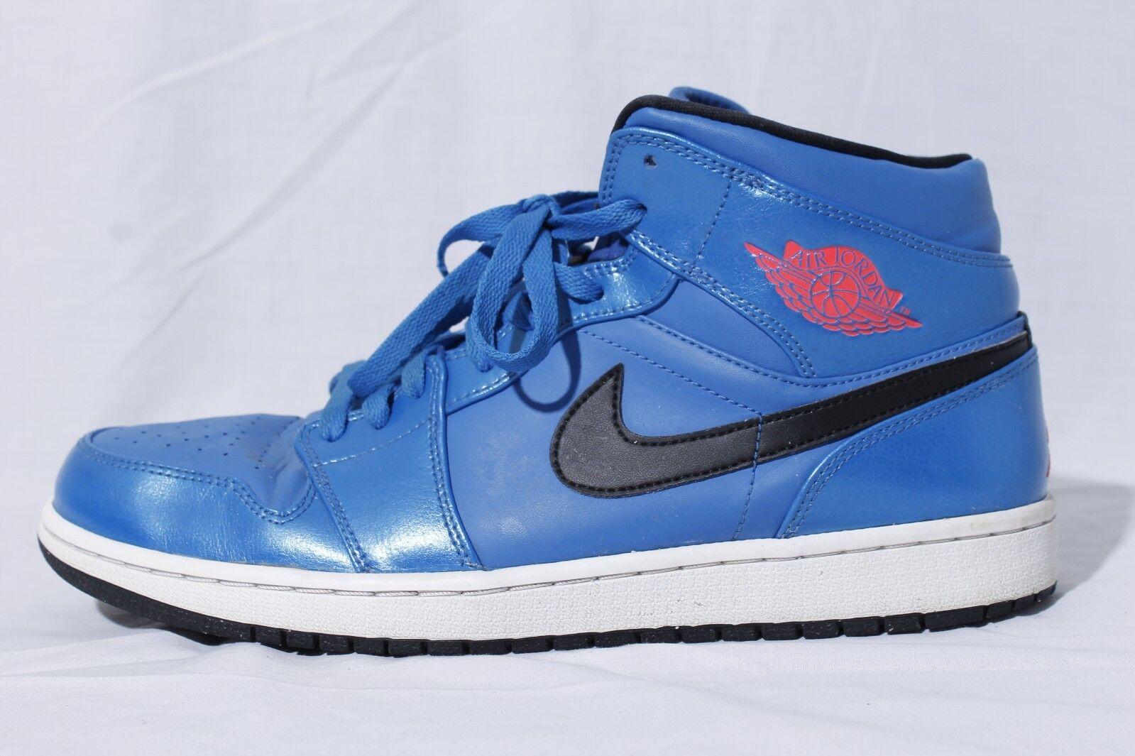 official photos dfb75 da1da ... clearance nike air jordan 1 metà uomini 115 blu scarpe da basket scarpe  sz noi 115