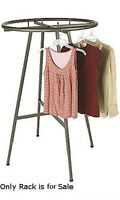 Retail Boutique Raw Steel Round Clothing Rack 48-72h 3 Increments