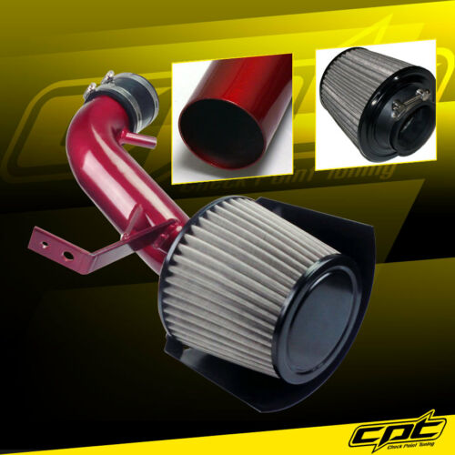 Red Cold Air Intake Stainless Steel Air Filter For 07-12 Altima 2.5L 4cyl