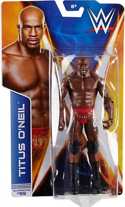 WWE TITUS O'NEIL FIGURE SERIES 44 WRESTLING BASIC ONEAL