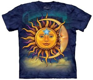 Sun-Moon-Shirt-Mystical-Magic-T-Shirt-Mountain-Brand-Small-5X-graphic-Tee