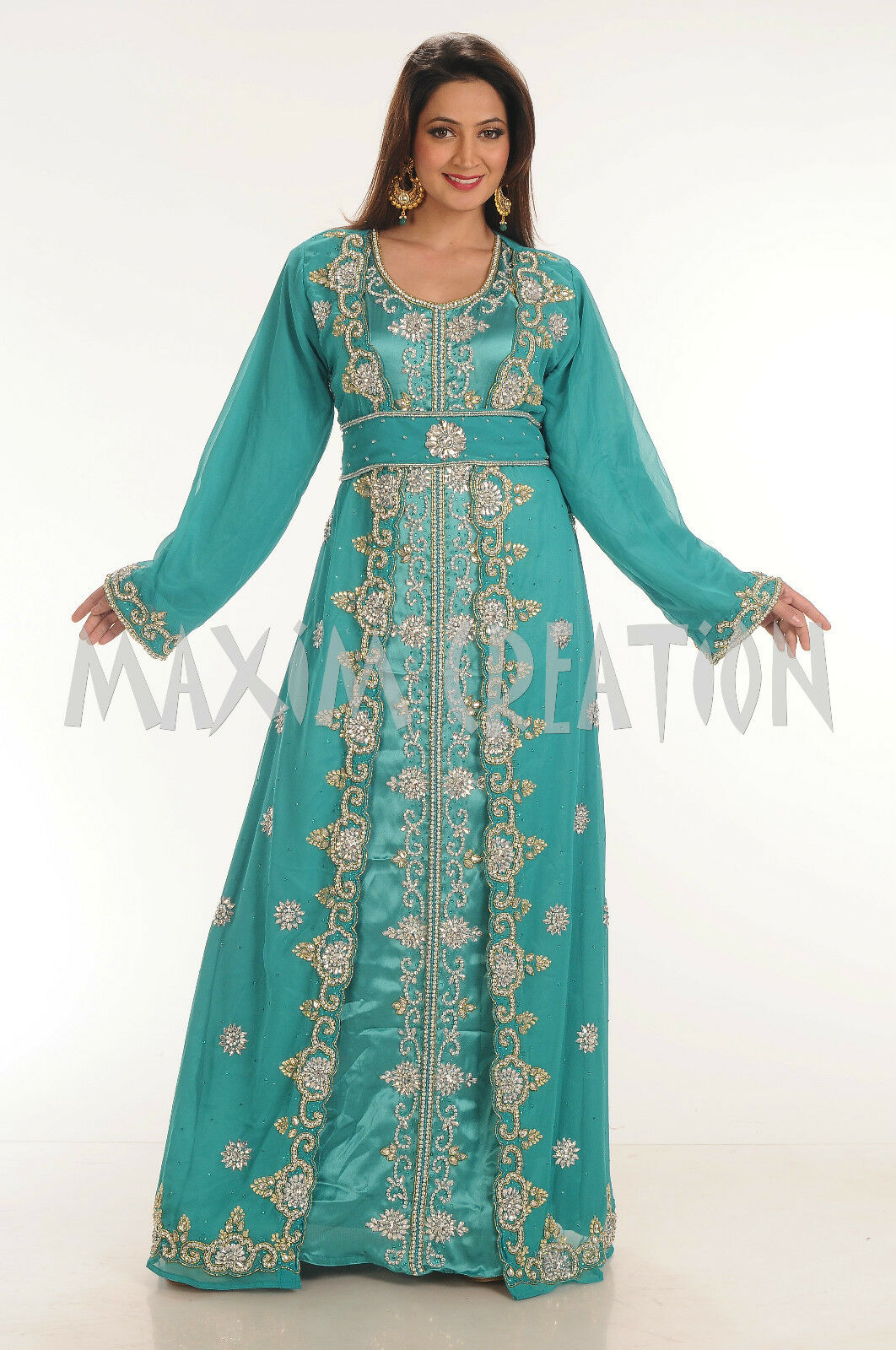 EXCLUSIVE FANCY JILBAB ARABIAN WEDDING GOWN TAKSHITA MODERN THOBE DRESS 4343