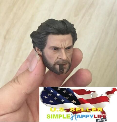 1//6 Wolverine Logan Head Young Hugh Jackman w// cigar for Hot toys ❶IN STOCK USA❶