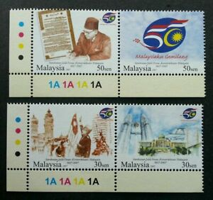 SJ-Golden-Jubilee-Celebration-Of-Independence-Malaysia-2007-stamp-color-MNH
