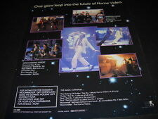 MICHAEL JACKSON One Giant Leap Into Future Home Video 1988 PROMO POSTER AD mint
