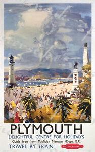 Vintage British Rail Blackpool Tower Shadow Railway Poster A3 Print