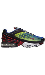 Nike-Air-Max-Plus-3-Parachute-Hyper-Royal-Laser-Crimson-Black-10-5-Mens-12-Wmns