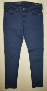 AG-Jeans-The-Stevie-Ankle-Slim-Straight-Sz-26R-Blue-Womens-Adriano-Goldschmied