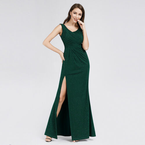 Ever-Pretty US Long Formal Evening Prom Dresses Split Homecoming Party Prom Gown