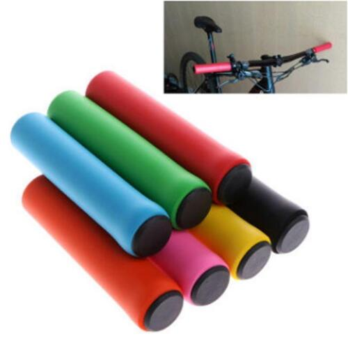 Common Silicone Bike Grips 1 Pair Hand Grips Solid Color Bicycle Accessories 6T