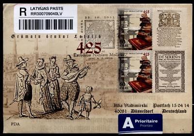Fdc-r-brief Nach Brd Lettland 2013 Top Wassermelonen 425j Buchdruckerei In Lettland