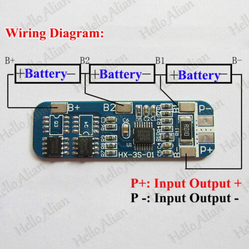 3A-4A PCB BMS Protection Board for 3 Packs 18650 Li-ion lithium Battery Cell 3S