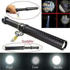 2000 Lumen CREE Q5 LED Zoomable Baseball Bat Flashlight Security Torch Lamp OK