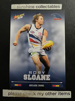 2016 Afl Select Footy Stars Basecard No.12 Rory Sloane Adelaide Crows Fine Craftsmanship Sports Trading Cards Australian Football Cards