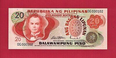20 PISO 1978 ULTRA-RARE BINOMIAL FANCY NOTE PHILIPPINE PILIPINAS UNC NOTE P-162a