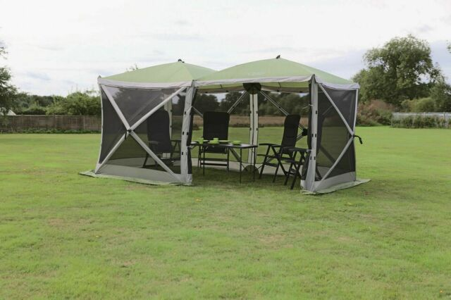 Quest Instant Pop Up Screen House 6 Garden Camping Gazebo
