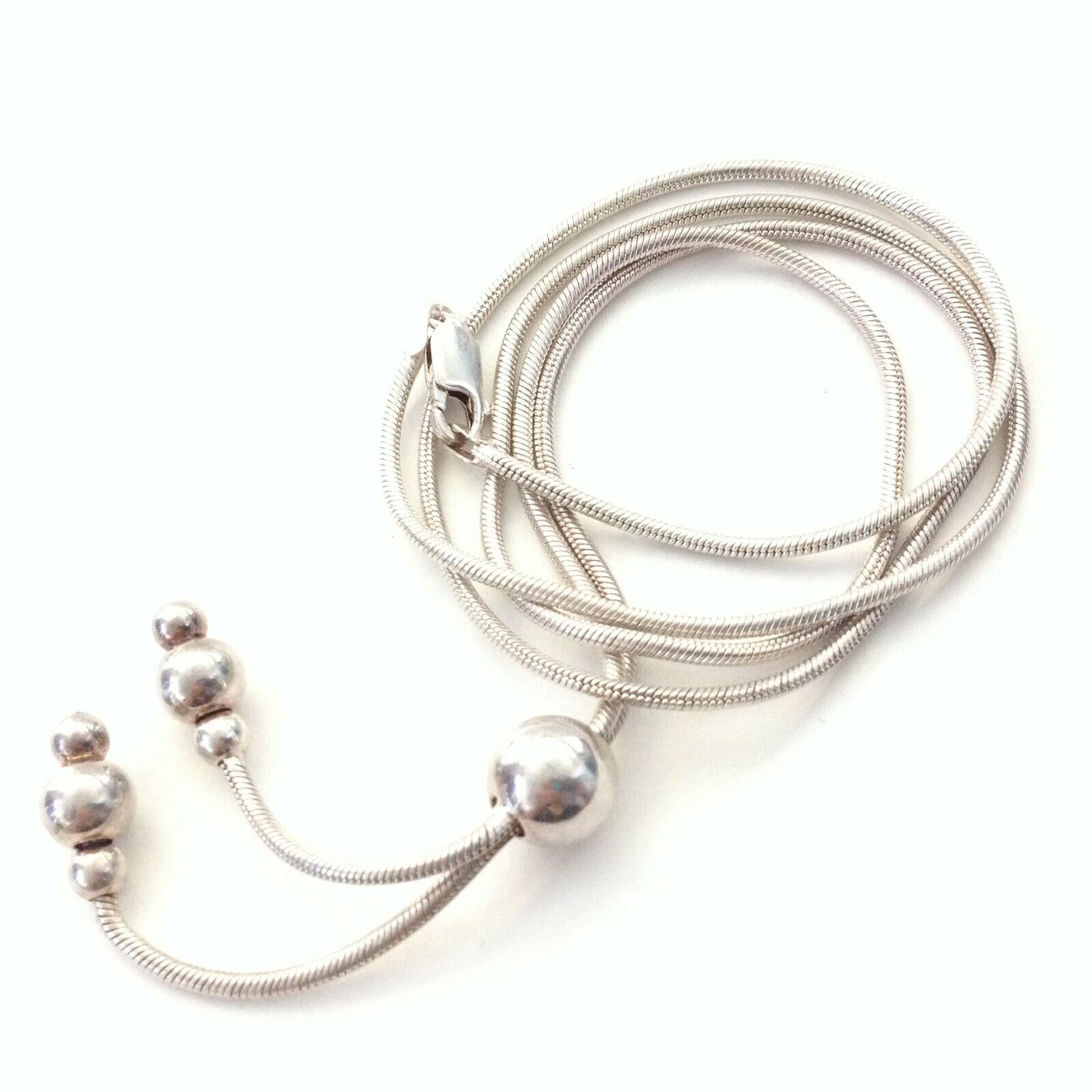 Milor Italy Sterling Silver Dangle Beaded End Sna… - image 2