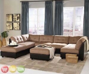 Image Is Loading Claude Contemporary U Shaped Two Tone Tan Brown