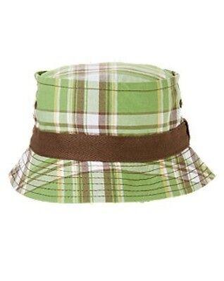 NWT Gymboree sz 12 24  Island Hoppers Plaid Bucket Hat Sun Palm Green Plaid