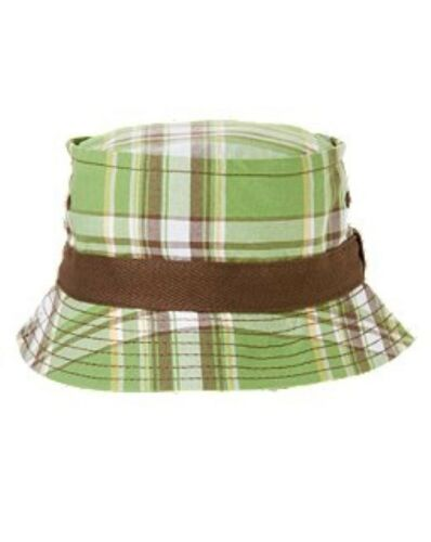 NWT Gymboree Island Hoppers Plaid Bucket Hat Sun Hat NEW Palm Green Plaid 4T 5T