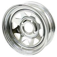 Vw Bug Baja Chrome Spoke Steel Wheels 4 Lug 15x5 2-1/2 Back Space 10-1008