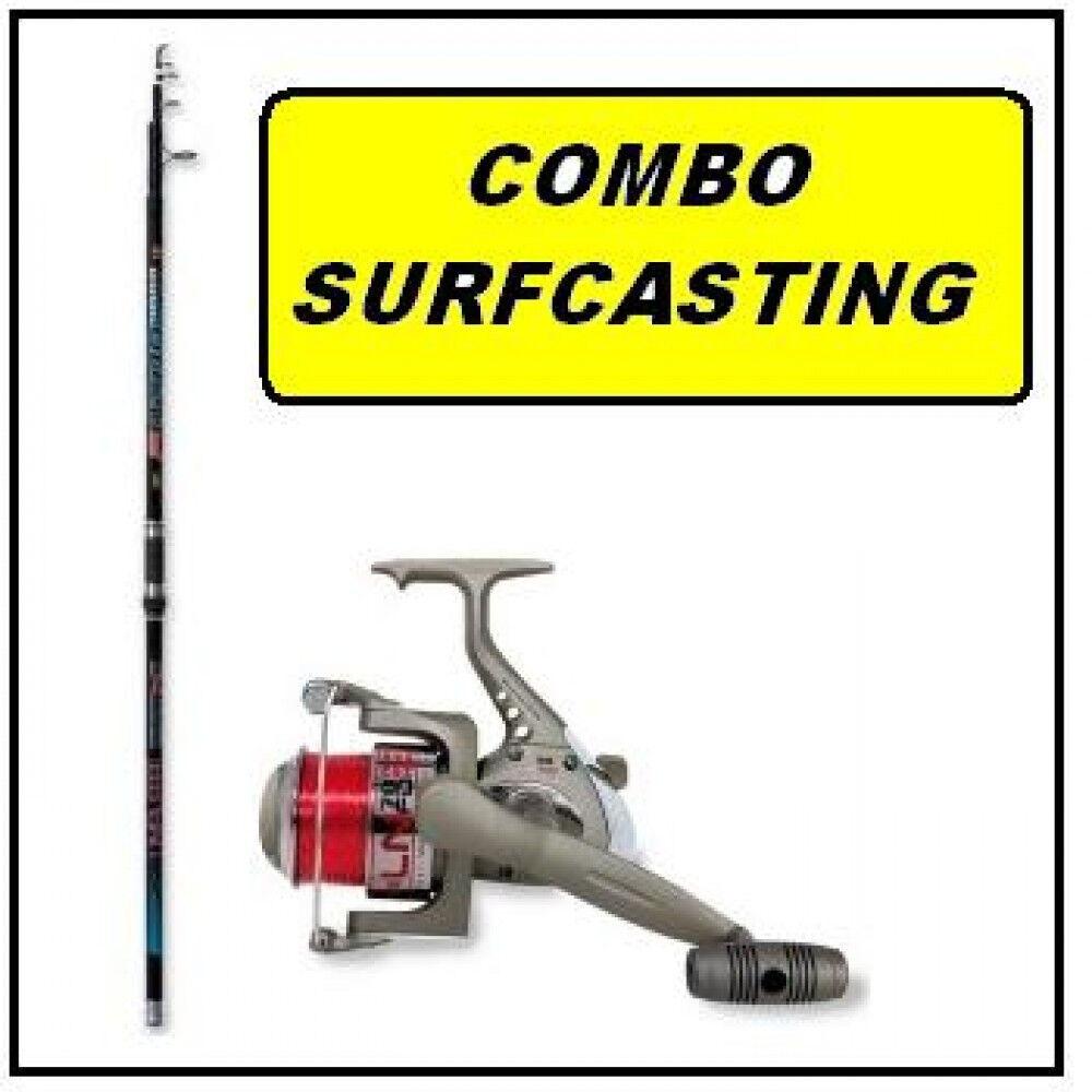 Combo Surfcasting  canna, mulinello kit surfcasting surf casting pesca mare PB21