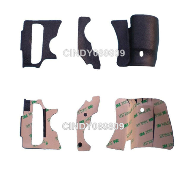 New A Set Of 3 Pieces Grip Rubber Unit for Canon 60D DSLR Rubber Replacement