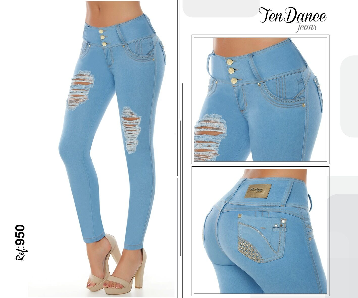 Jeans colombianos butt lifter fajas colombianas jeans levanta cola pompi 950