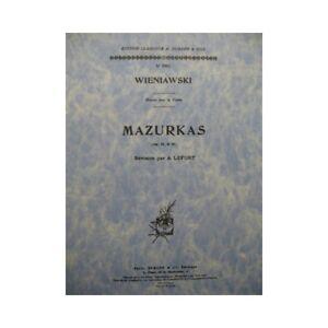 Noten & Songbooks Gehorsam Wieniawski Henri Mazurken Op 12 &; 19 Piano Violine 1950 Partitur Sheet Music Gut FüR Antipyretika Und Hals-Schnuller