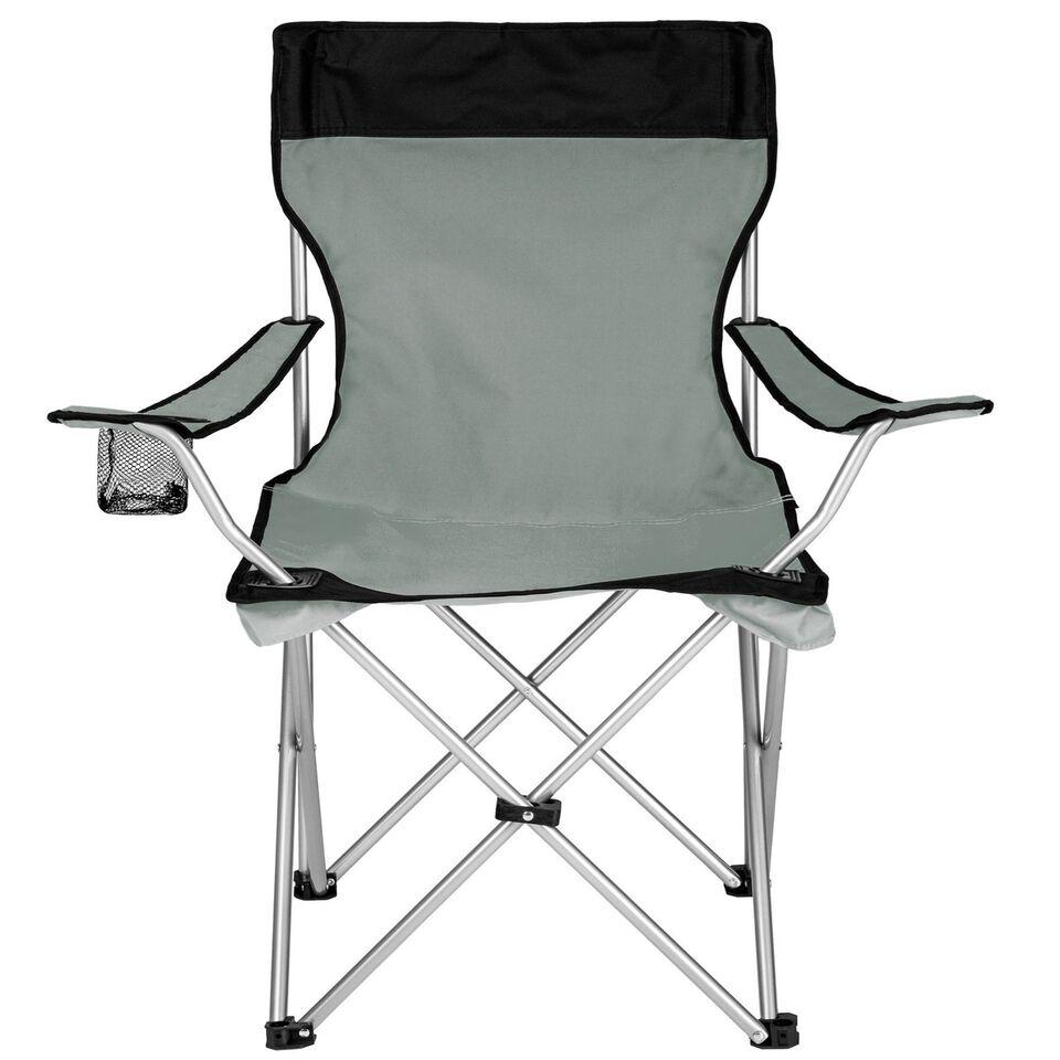 2 Campingstole enkelt grå